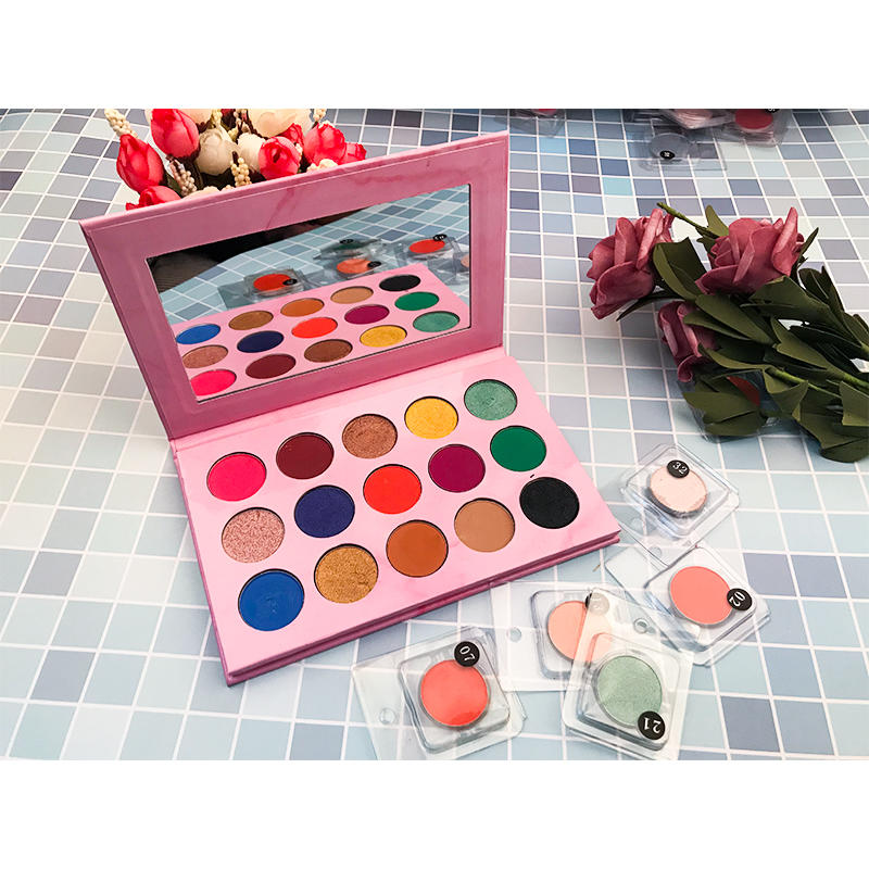 Custom Logo Makeup Palette Private Label 15 Colors Eyeshadow Matte Shimmer Warm Eyeshadow with Your Brand