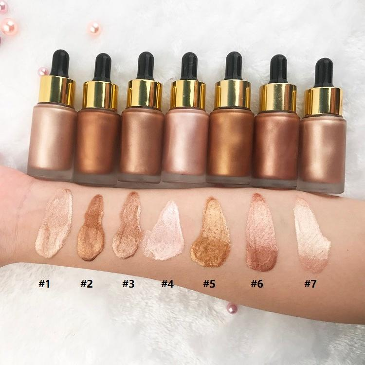 Private Label makeup face shimmer liquid highlighter
