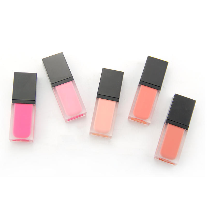 Cosmetic organic 5 colors face liquid blush private label