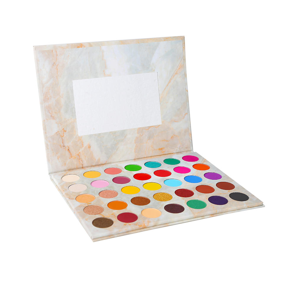 Private label 35 colors pigment glitter marble makeup eyeshadow palette