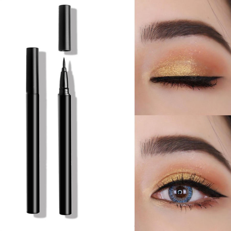 2 in 1 Eyebrow Best Waterproof 4 Colors Liquid Eyeliner
