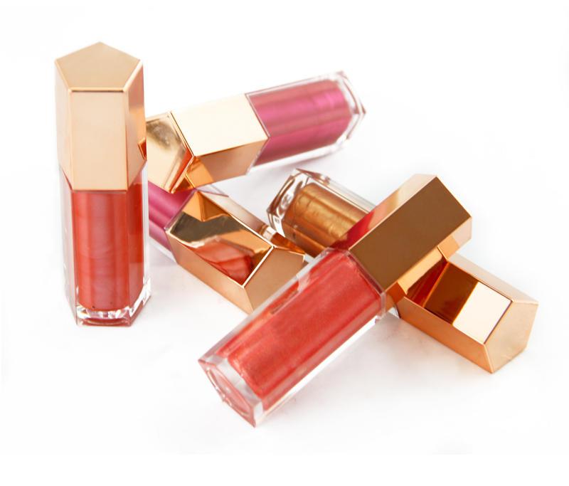 Custom 5 Colors Makeup Vendor Glitter Private Label Lipgloss Shiny Lip Gloss