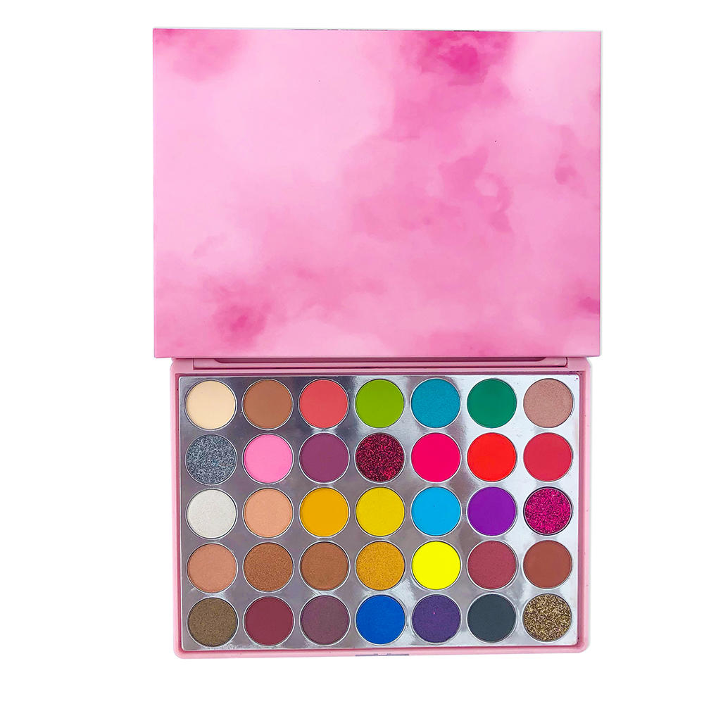 New Makeup no label pink eyeshadow palette custom logo eye shadow