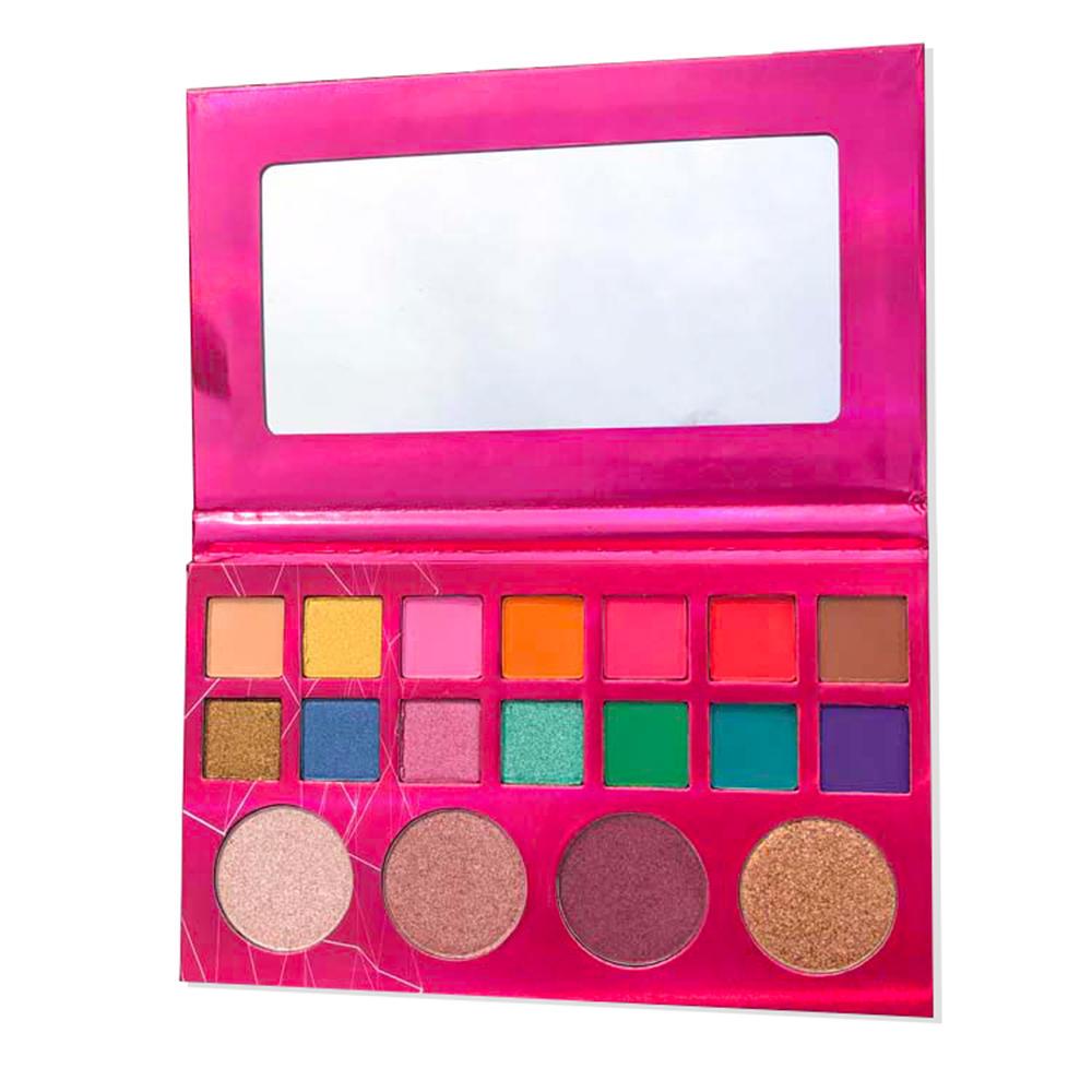 Latest makeup private label 18 colors vegan high pigment matte shiny eyeshadow palette