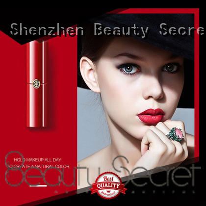 velvet private label lipstick with mirror for women
