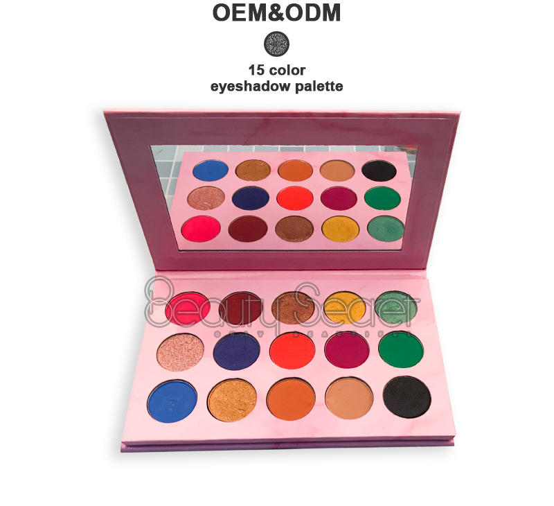 neon glitter eye makeup with mirror for ladies-2