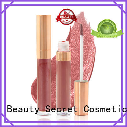 Beauty Secret Cosmetics moisturizing lip gloss tube labels make your own logo wholesale