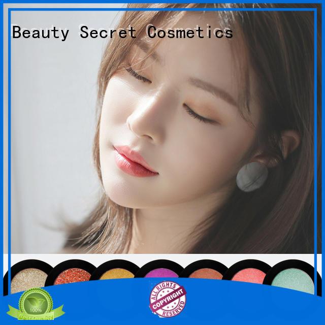 Beauty Secret Cosmetics plastic shimmer eyeshadow palette with custom logo for ladies