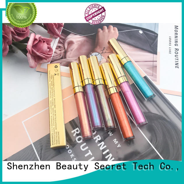 waterproof private label lip gloss supplier wholesale Beauty Secret Cosmetics