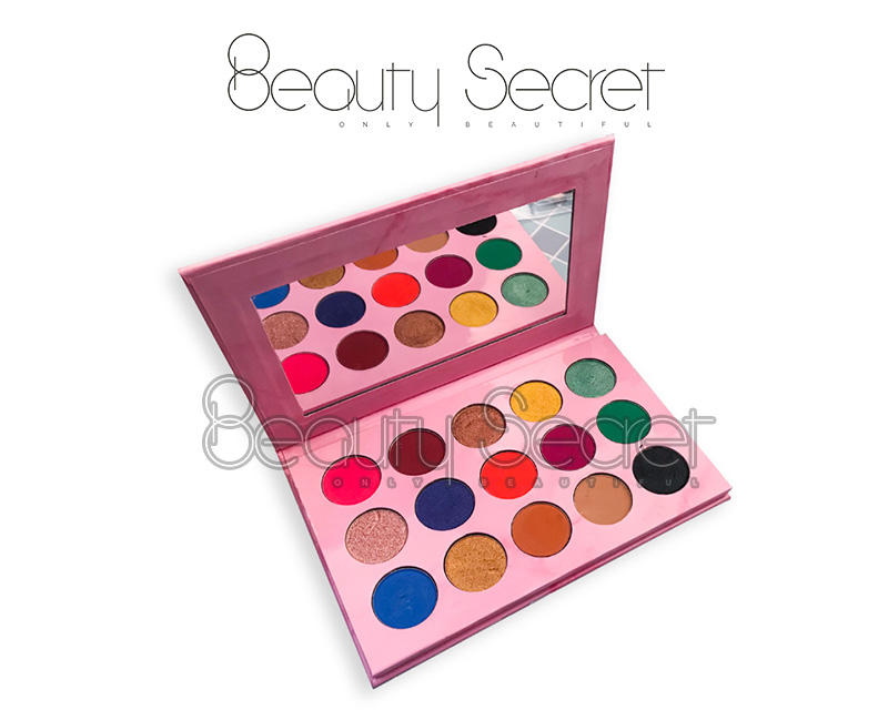 neon glitter eye makeup with mirror for ladies-3