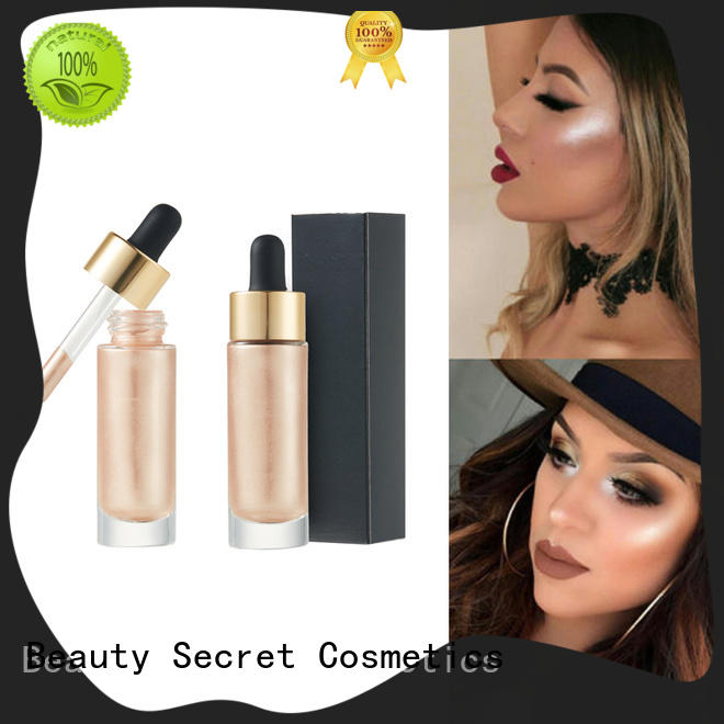 Beauty Secret Cosmetics customized highlighter makeup private label for makeup