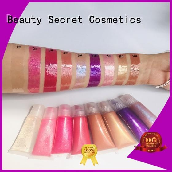 customized shimmer lip gloss manufacturer fast delivery Beauty Secret Cosmetics