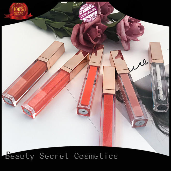 make gold lip gloss long lasting Beauty Secret Cosmetics manufacture