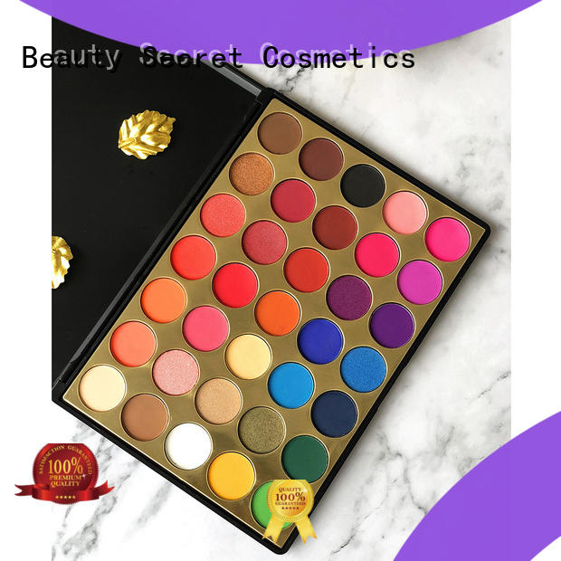 Beauty Secret Cosmetics bright eyeshadow palette with mirror fast delivery