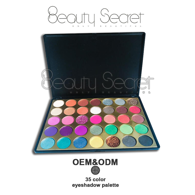 Beauty Secret Cosmetics fluorescent shimmer eyeshadow palette with mirror for sale-1