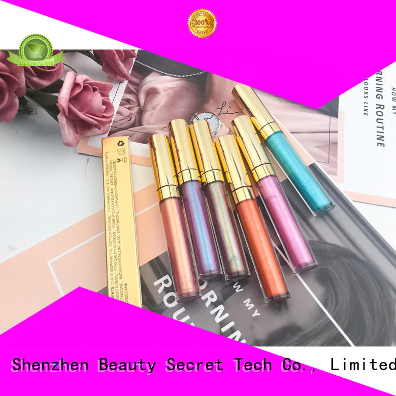 Beauty Secret Cosmetics superior quality private label lip gloss manufacturer wholesale