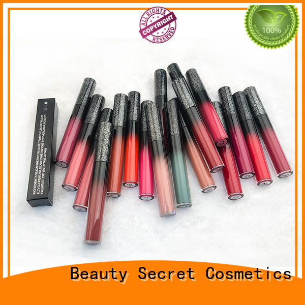 Beauty Secret Cosmetics low moq matte lipstick with mirror for ladies
