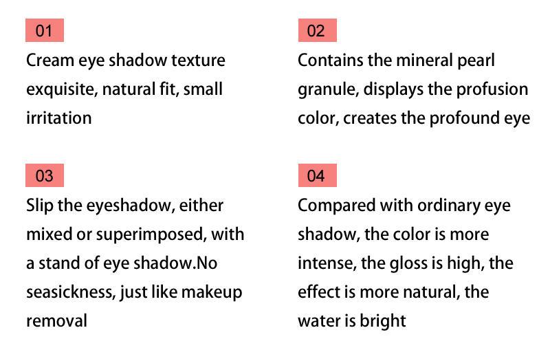 Beauty Secret Cosmetics plastic shimmer eyeshadow palette with custom logo for ladies-2