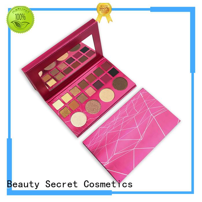 Beauty Secret Cosmetics latest natural eyeshadow with custom logo for ladies
