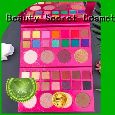 Beauty Secret Cosmetics high quality good cheap eyeshadow palettes with mirror for makeup