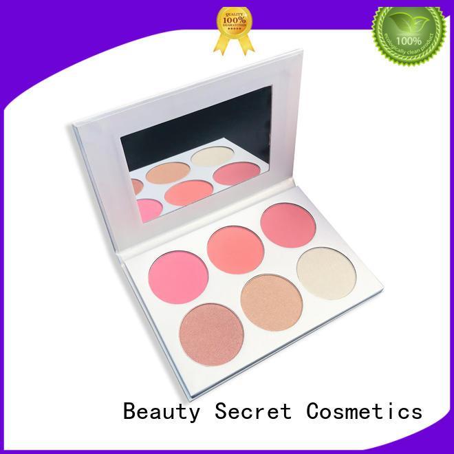 Beauty Secret Cosmetics beautiful 5 color blusher supplier for makeup