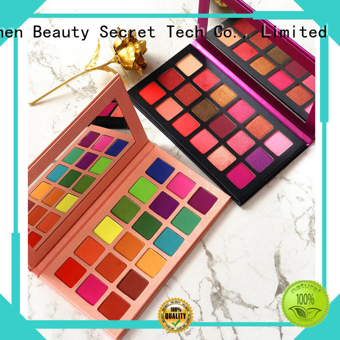 Beauty Secret Cosmetics single shimmer eyeshadow palette with mirror for ladies