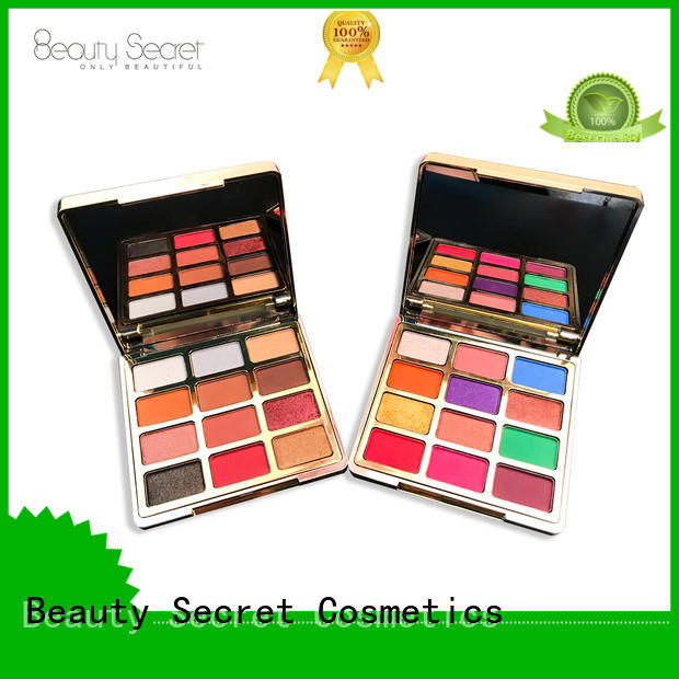 Beauty Secret Cosmetics latest wholesale eyeshadow with mirror for ladies