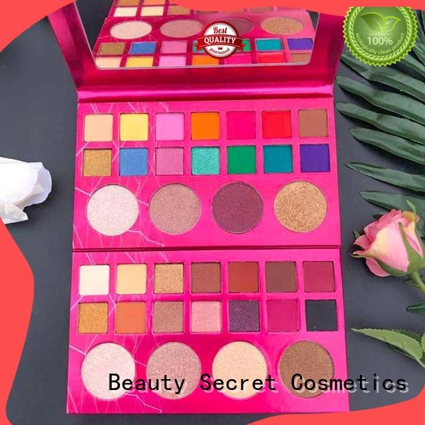 no label shimmer eyeshadow palette with mirror for ladies