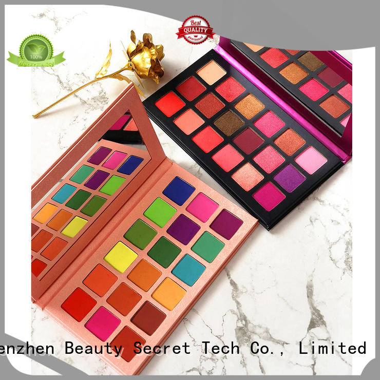 shimmer cool eyeshadow palette with custom logo for ladies