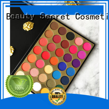 Beauty Secret Cosmetics ashion shimmer eyeshadow palette with custom logo for makeup