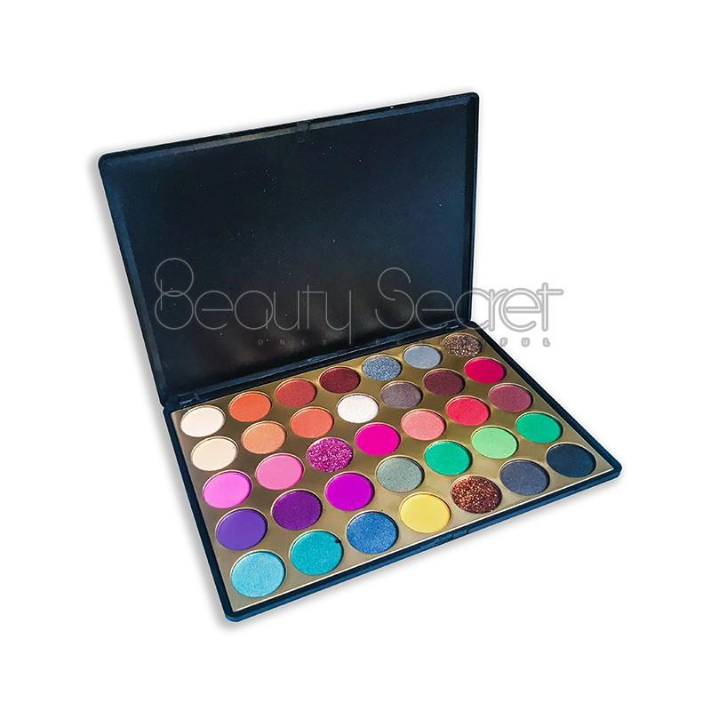 Beauty Secret Cosmetics fluorescent shimmer eyeshadow palette with mirror for sale-3