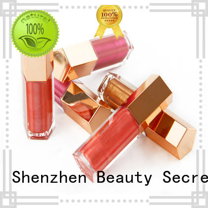 Beauty Secret Cosmetics hot sale metalic lip gloss with your own logo for sale
