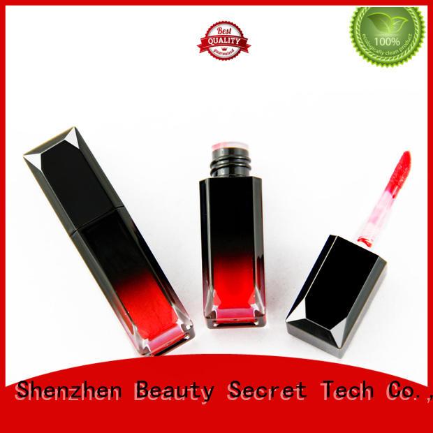Beauty Secret Cosmetics mineral custom lip gloss with gold cap wholesale