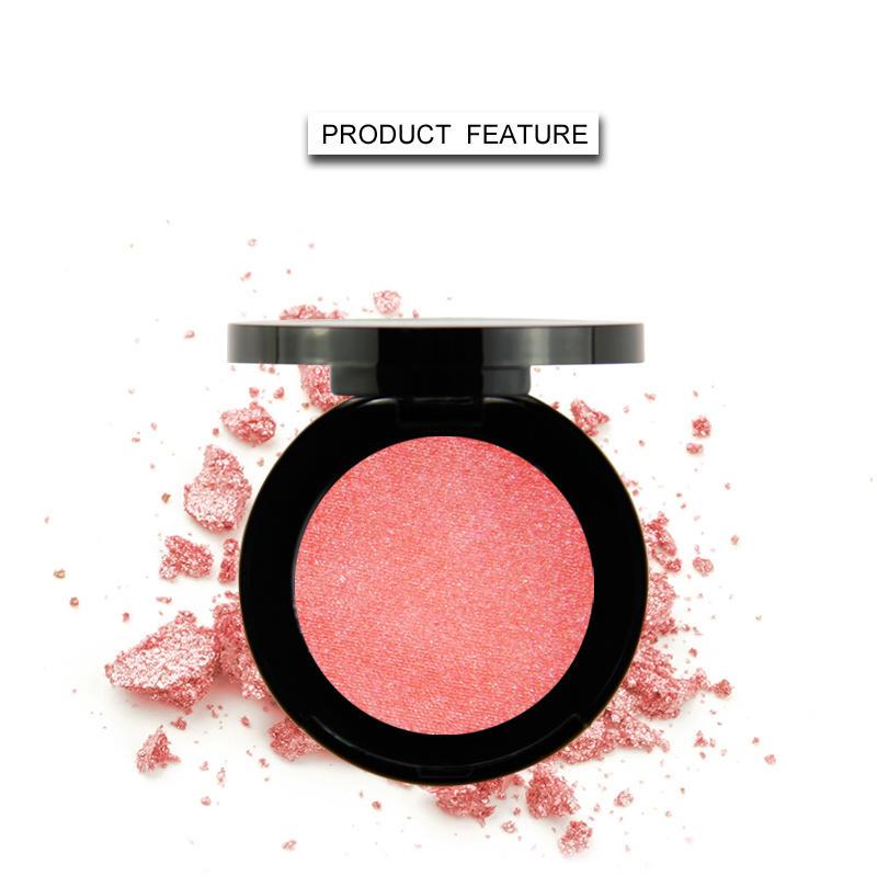 Beauty Secret Cosmetics plastic shimmer eyeshadow palette with custom logo for ladies-3