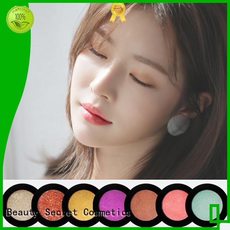 Beauty Secret Cosmetics pink cosmetics eyeshadow with custom logo for sale