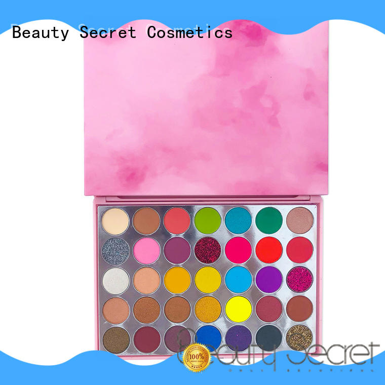 Beauty Secret Cosmetics loose powder cool eyeshadow palette with mirror for ladies