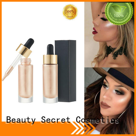 Beauty Secret Cosmetics logo face highlighter private label for makeup