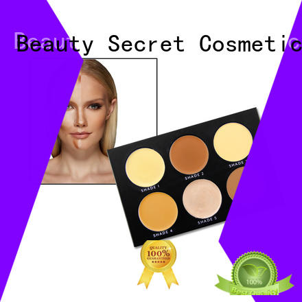 Beauty Secret Cosmetics organic makeup foundation with mirror for makeup