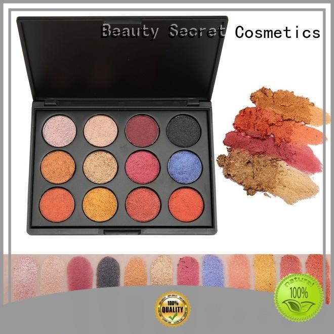 Beauty Secret Cosmetics shimmer eyeshadow palette powder for makeup