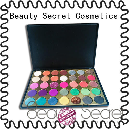 Beauty Secret Cosmetics fluorescent shimmer eyeshadow palette with mirror for sale