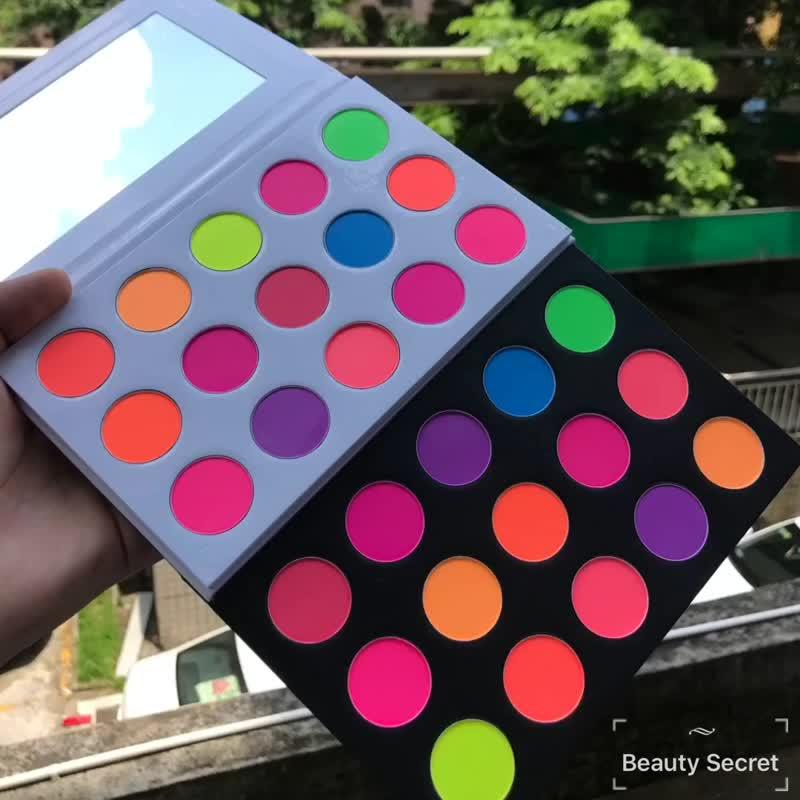 12 colors neon eyeshadow pigment